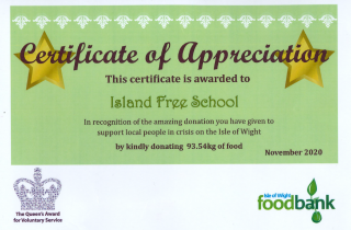 Food bank award